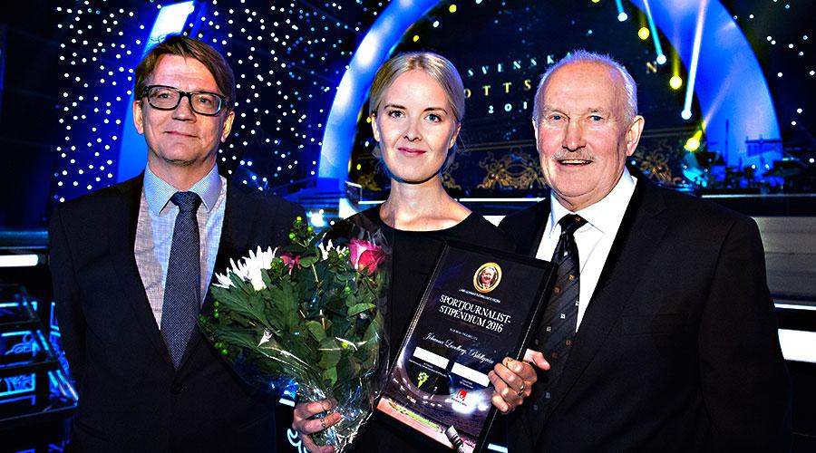 Johanna Lundberg, Bildbyrån, fick Lars-Gunnar Björklunds stipendium.  Foto: Bildbyrån