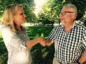 Lisa Edwinsson och avgående ordförande Mats Taxén. Foto: Lennart Månsson