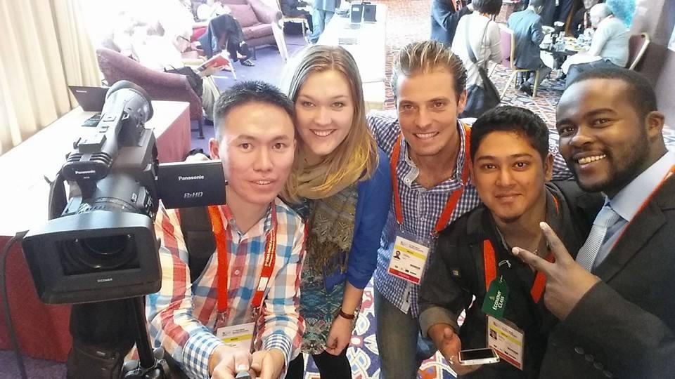 Emelie Fredriksson, i dag Aftonbladet, deltog i AIPS Young Reporters Program under sim-VM i Doha 2014.
