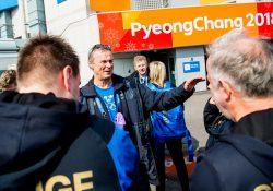 Björn Folin i PyongChang, dag 16, OS-finalen i curling mellan Sverige och Sydkorea.